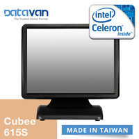 Celeron J1900 Quad core, fanless, energy-efficient, 15 inch restaurant touch point of sale station