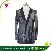 Fashion wholesale suits / cheap mens printed custom suits / slim fit blazers for men