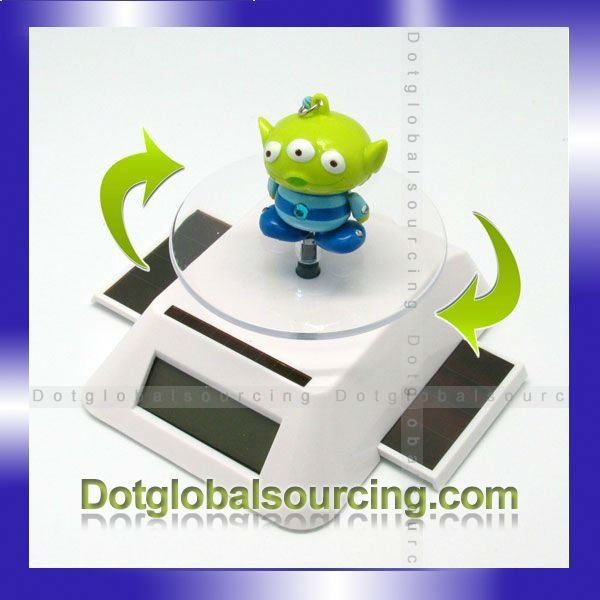 Hot Sale!! Solar Spinner Power Rotating Display Base Stand With Rotary Turn Table For Display