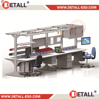 Modern design linear open office workstation/office partition for 6 persons