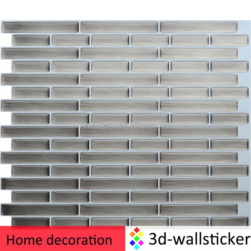 Innovative self-adhesive Peel and Stick Wall Tile for quick kitchen or bathroom makeover on a budget