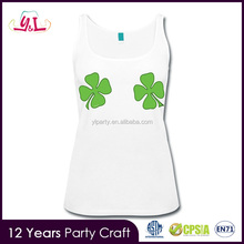 Hot Products 2017 New Premium Women Elongated Tank Top For St. Patrick's Day