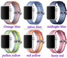 YH94 38mm 42mm band for watch series 1 2 woven nylon band strap for Watch colorful pattern classic buckle