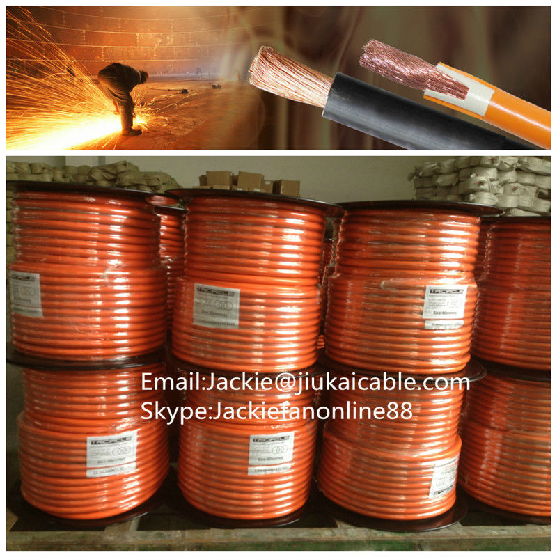2014 Flexible Copper Rubber / PVC copper welding cable copper welding cable used welded wire mesh machine