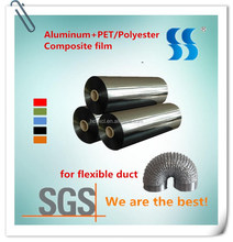 Silver Soft 54mm Width Aluminum Coated Mylar for Flexible Ducting