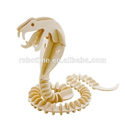 2014 new wholesale DIY 3D wooden toy snake