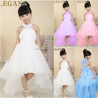 Alibaba factory price short front & long back latest party designs flower girl dress