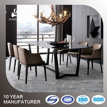 marble top dining laminated table designs in ash solid wood legs