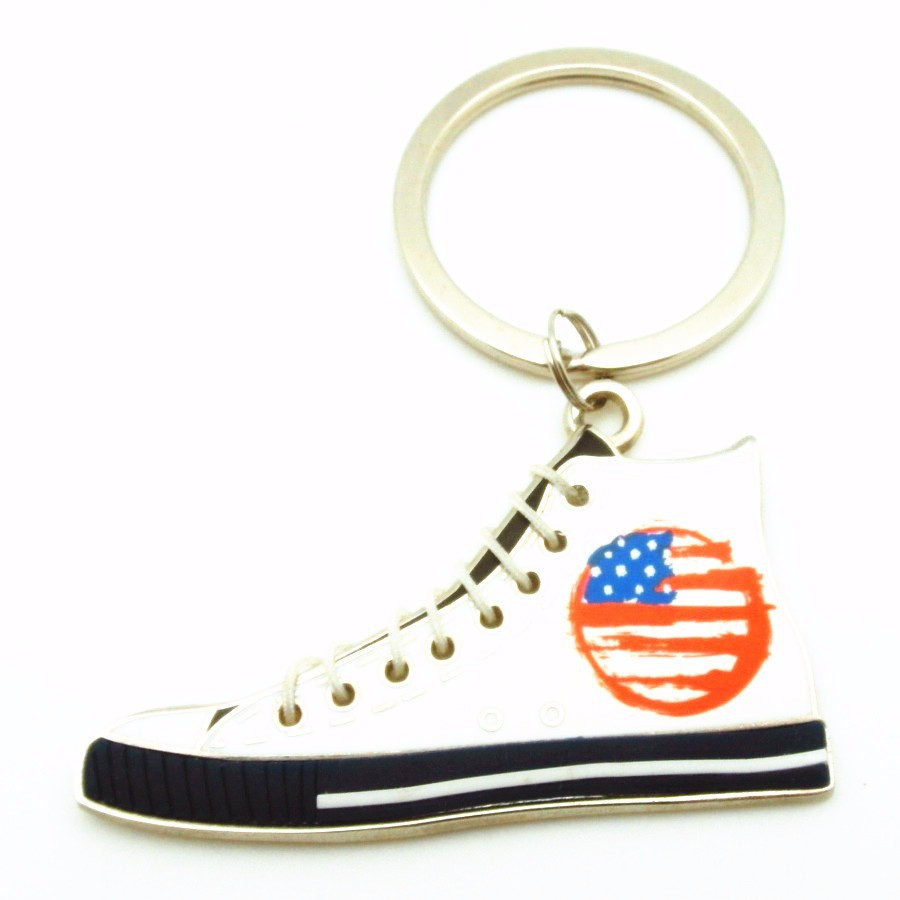 2017 HIGH QUALITY SHOES PROMOTION GIFT METAL ZINC ALLOY KEYRING KEY CHAIN