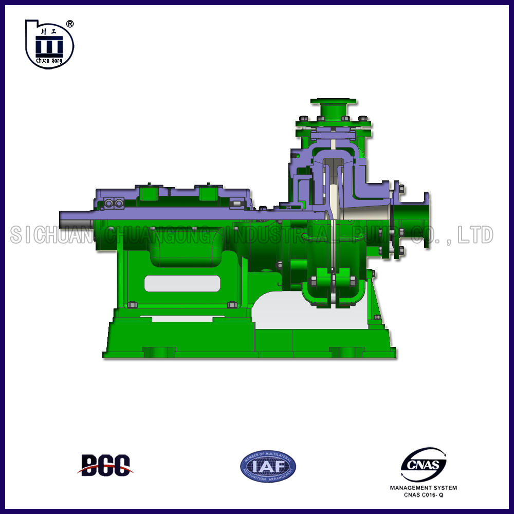 Power plant ash slurry pump