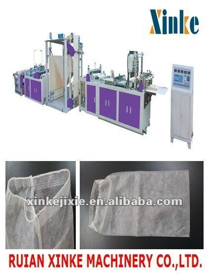 Full automatic non woven with rope shoes bag making machine