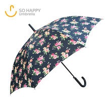 23Inch Floral Art Print Walking Long Handle Umbrella New Invention