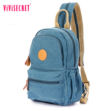 Original unique design blank mens canvas shoulder mens chest pack school backpack pack sport chest bag for girls