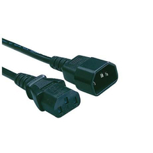 C14 to C13 server iec 60320 power cord three prong 14 3 sjt jacket 15A 250V