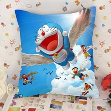 Custom made printed Doraemon pillow in China Alibaba