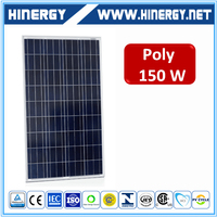 Hot selling 18v poly 150w pv modules multi crystalline solar panel 150w cell