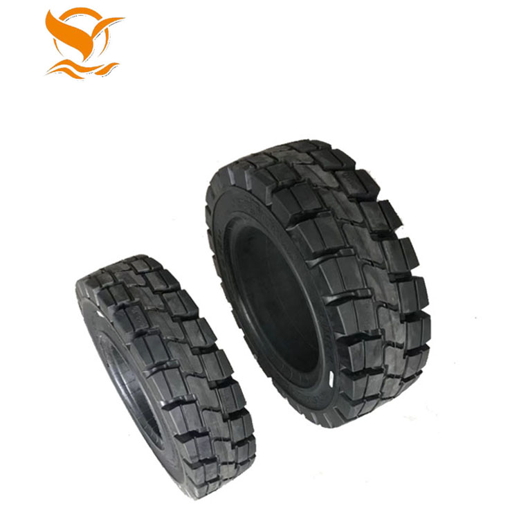 Forklift tyre 825-15 airless rubber tire for sale manufacturer