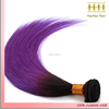 Factory direct grade 7a virgin hair raw unprocessed ombre black purple straight virgin peruvian hair