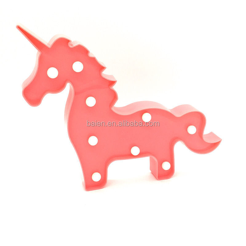 Cheap 9 LED Unicorn Shape Baby Night Light