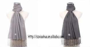 New fashion solid 100 cashmere scarf