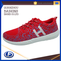 2016 wholesale fashion cheap custom injection women casual shoes
