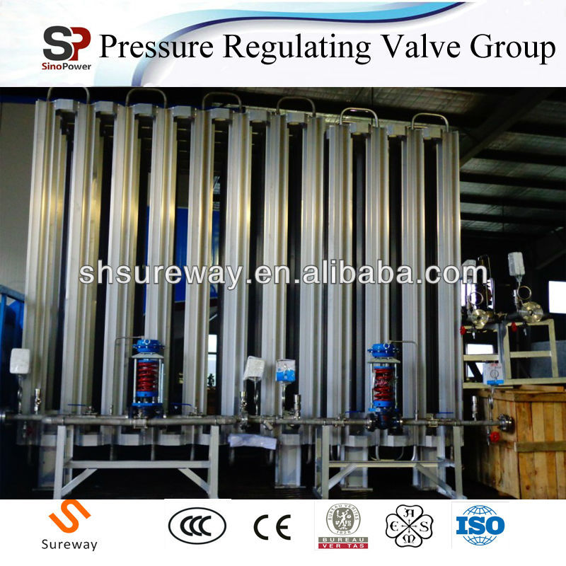 LNG Pressure Regulating Valves Group for LNG Vaporizer