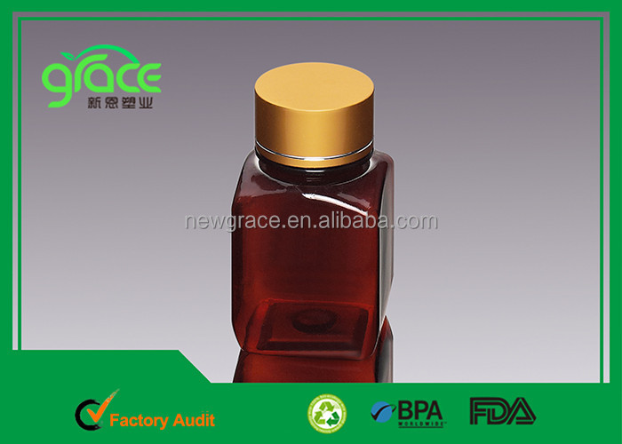 food grade bpa free 150ml amber empty medical pharmacy steroids plastic vials for sale