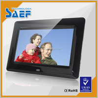 7 inch 1024*600 advertising lcd displayer support USB/HDMI/SD card ,video .picture .used indoor