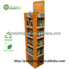 hot sale supermarket corrugated cardboard display pen case