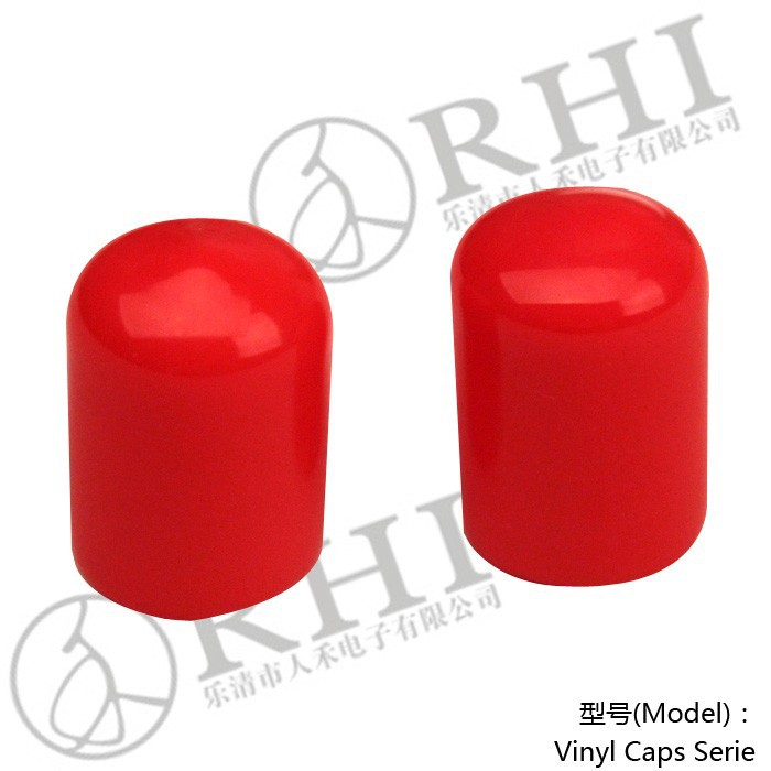 CS-10 Red pvc cable end caps plastic round end caps end cap for steel pipe