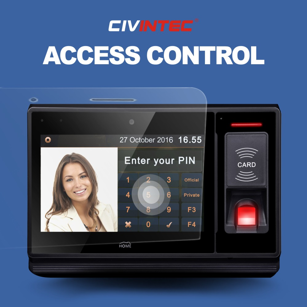 CIVINTEC uTouch Time System's Biometric Fingerprint Attendance Time Clock Total Pass Small Business Premium