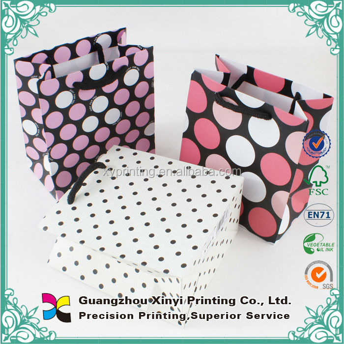 Art paper printing custom paper goody bag for shopping