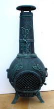Calico cast iron outdoor chiminea with bbq grill