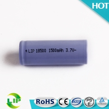 3.7v 1500mah 18500 rechargeable cylindrical li-ion lithium battery buy