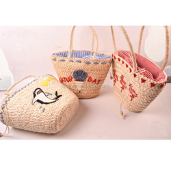 natural custom branded straw beach bag paper straw bag mexico