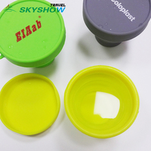 Portable Durable Washable Collapsible Silicone Cup With Lid