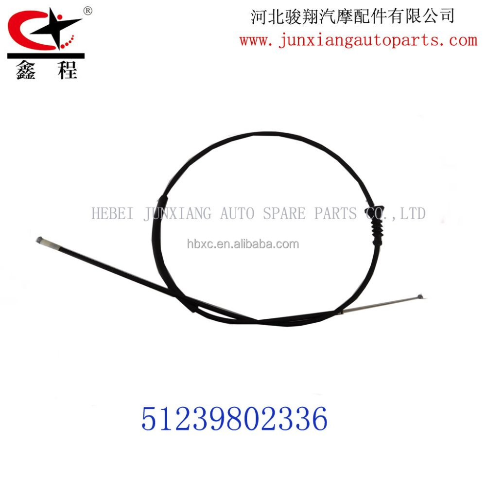 HEBEI JUNXIANG AUTO SPARE PARTS CABLE FACTORY BONNET CABLE OEM NO:51239802336 FOR MINI R50 R53 R55 R56 R57 R58 R560