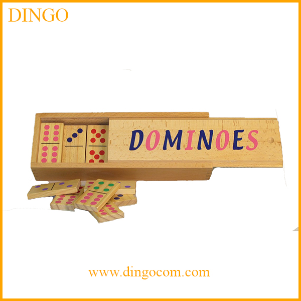 wooden double 6 domino games