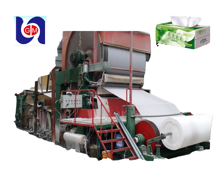 2017 popular 1880mm toilet tissue cotton pulp paper machine production line waste paper recycling machine in china
