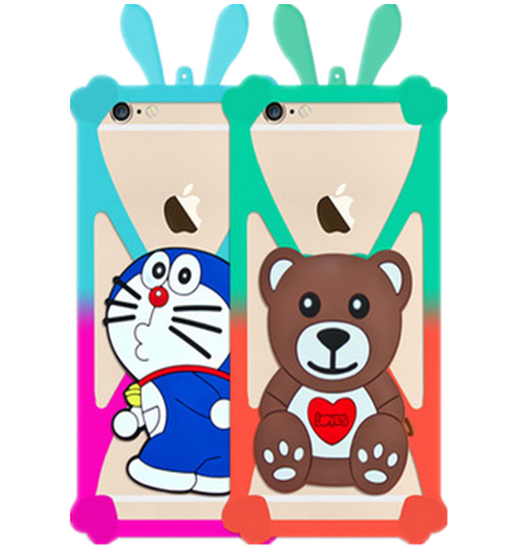 Phone Case Universal Animal Silicone Phone Case