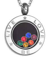 Fashion Jewelry 316l Stainless Steel Rainbow Pendant with CZ for Gay Men Jewelry Silver Necklace