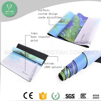 Microfiber design yoga mat custom
