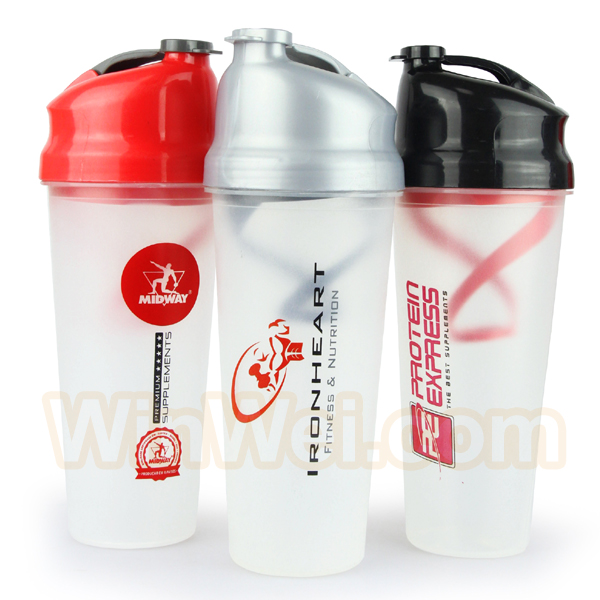 Plastic Custom Protein Shaker With Filter