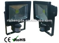 50W LED lux Floodlight with PIR motion sensor