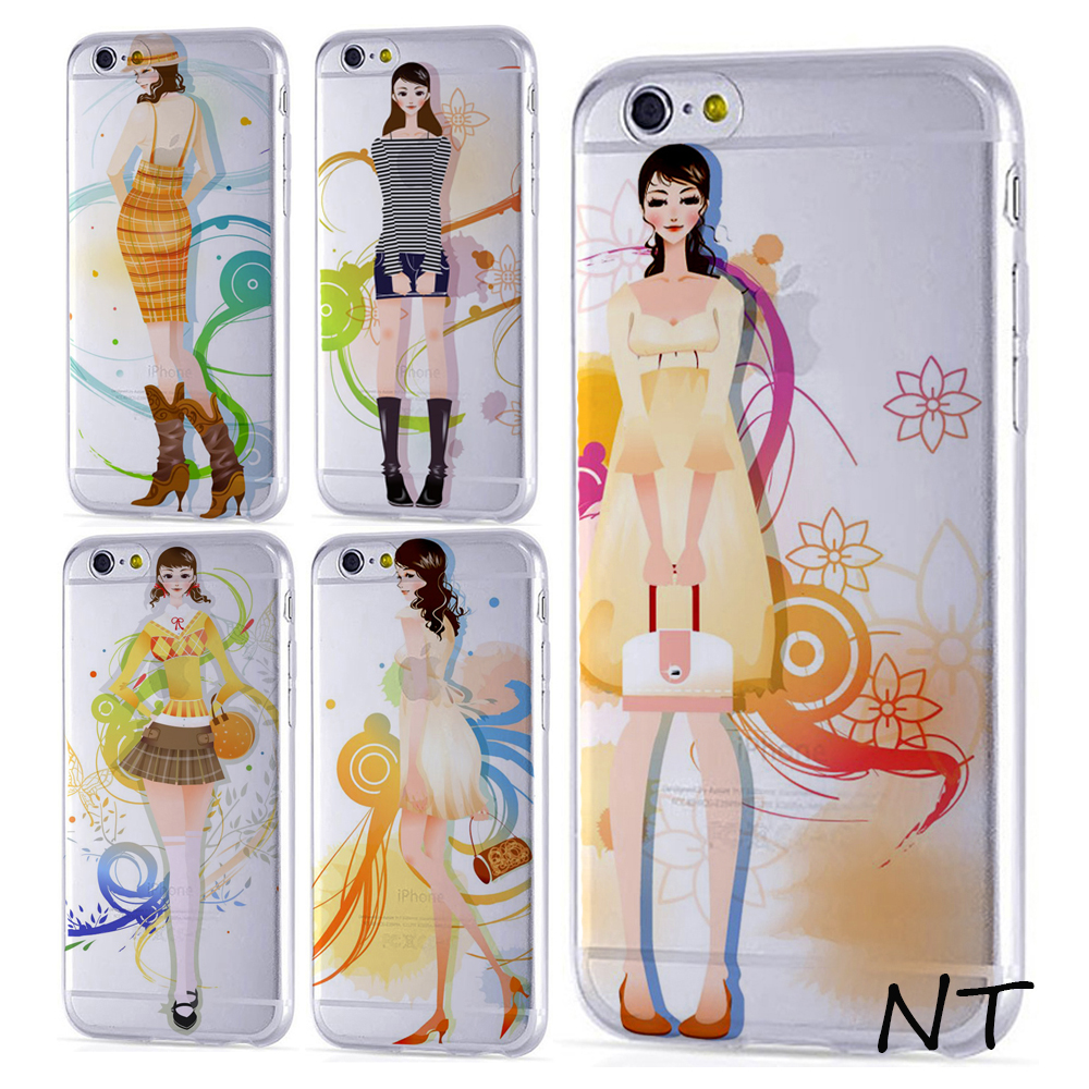 2016 bulk TPU clear fashion girls cell phone case for mobile phone custom design phone case
