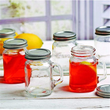 480ml multi-function glass mason jar with metal lid glass drinking cold beverage drinking glass mason jar mug with straw
