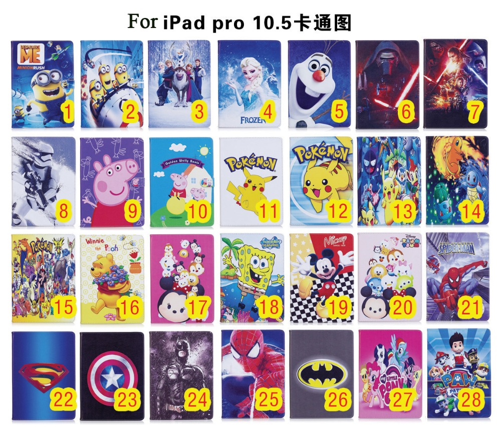 hot sale Cartoon kids synthetic leather protective case for iPad Pro 10.5''