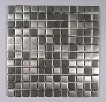 Silver stainless steel patten crystal glass mosaic tiles for kitchen