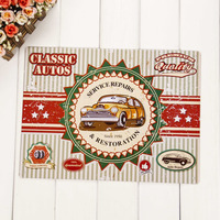 Wholesale Retro wall hanging metal craft with custom design vintage tin sign,metal sign