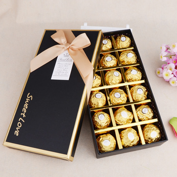 Wholesale empty black chocolate praline box with paper ider cheap chocolate gift box & Wholesale Empty Black Chocolate Praline Box With Paper Divider ... Aboutintivar.Com